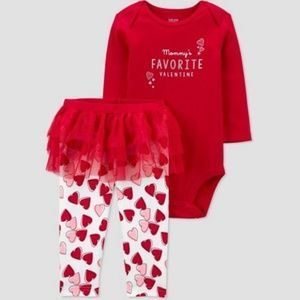 Mommy's Favorite Valentine Ruffle Bum Outfit NWT